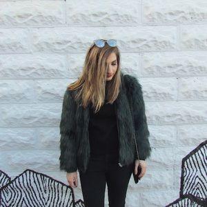 Jackets & Blazers - Silence + Noise Faux Fur Jacket